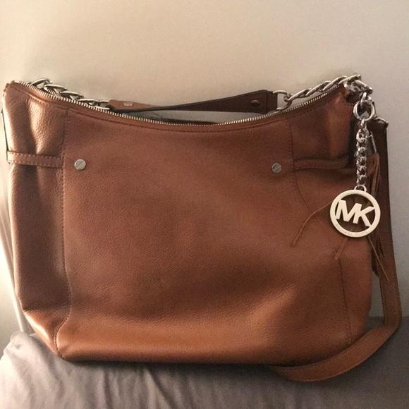 369d58af11e9 Michael Kors Bags | Megan Camel Tan Satchel Shoulder Bag | Poshmark